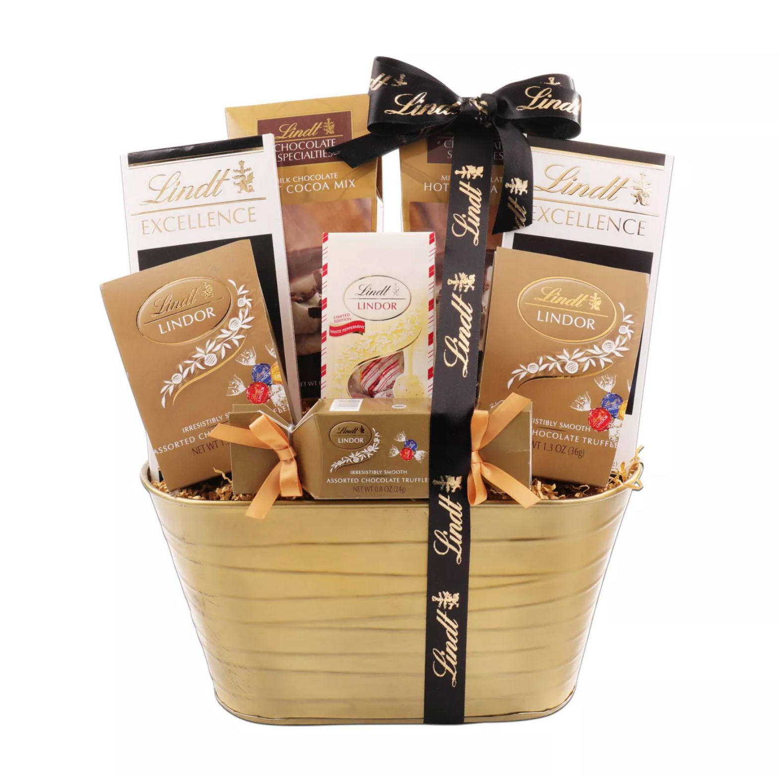 Lindt Holiday Chocolate Sampler Gift Basket