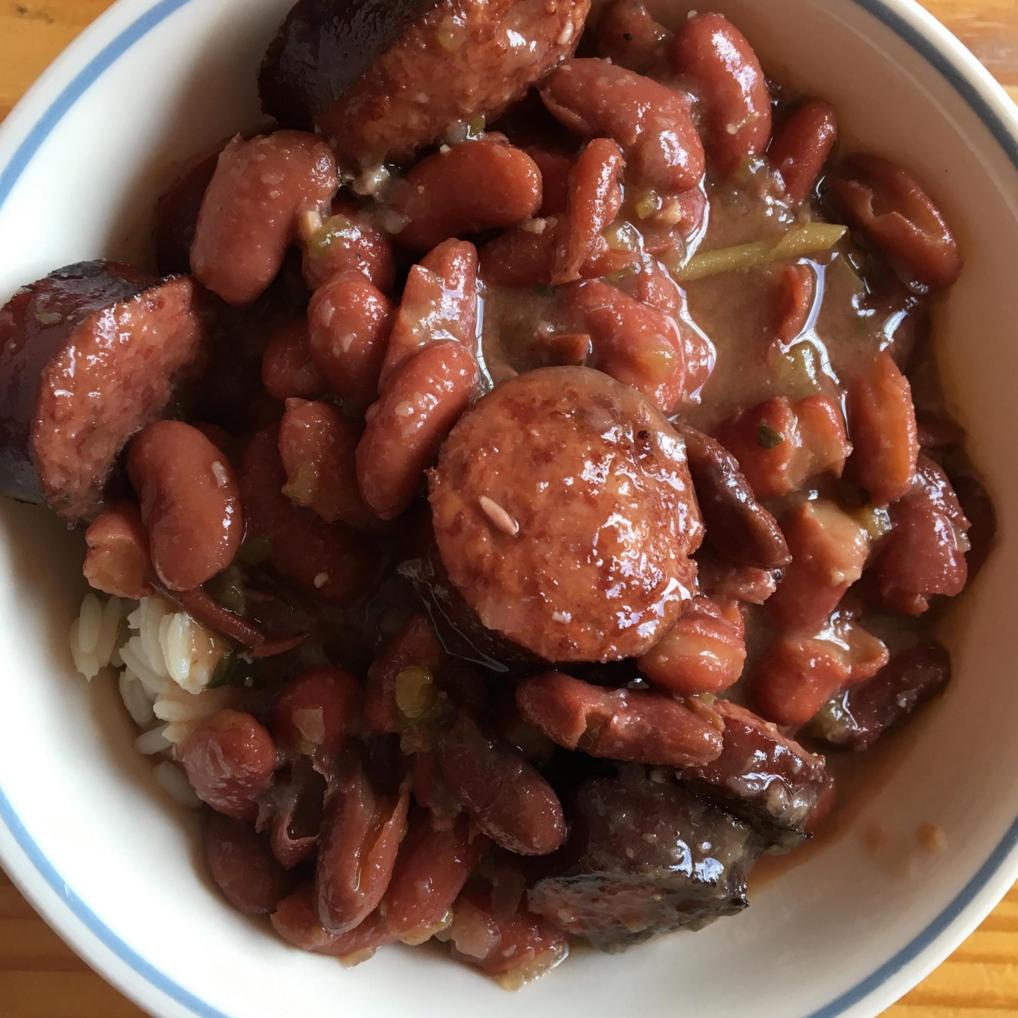 red beans and rice in a bowl