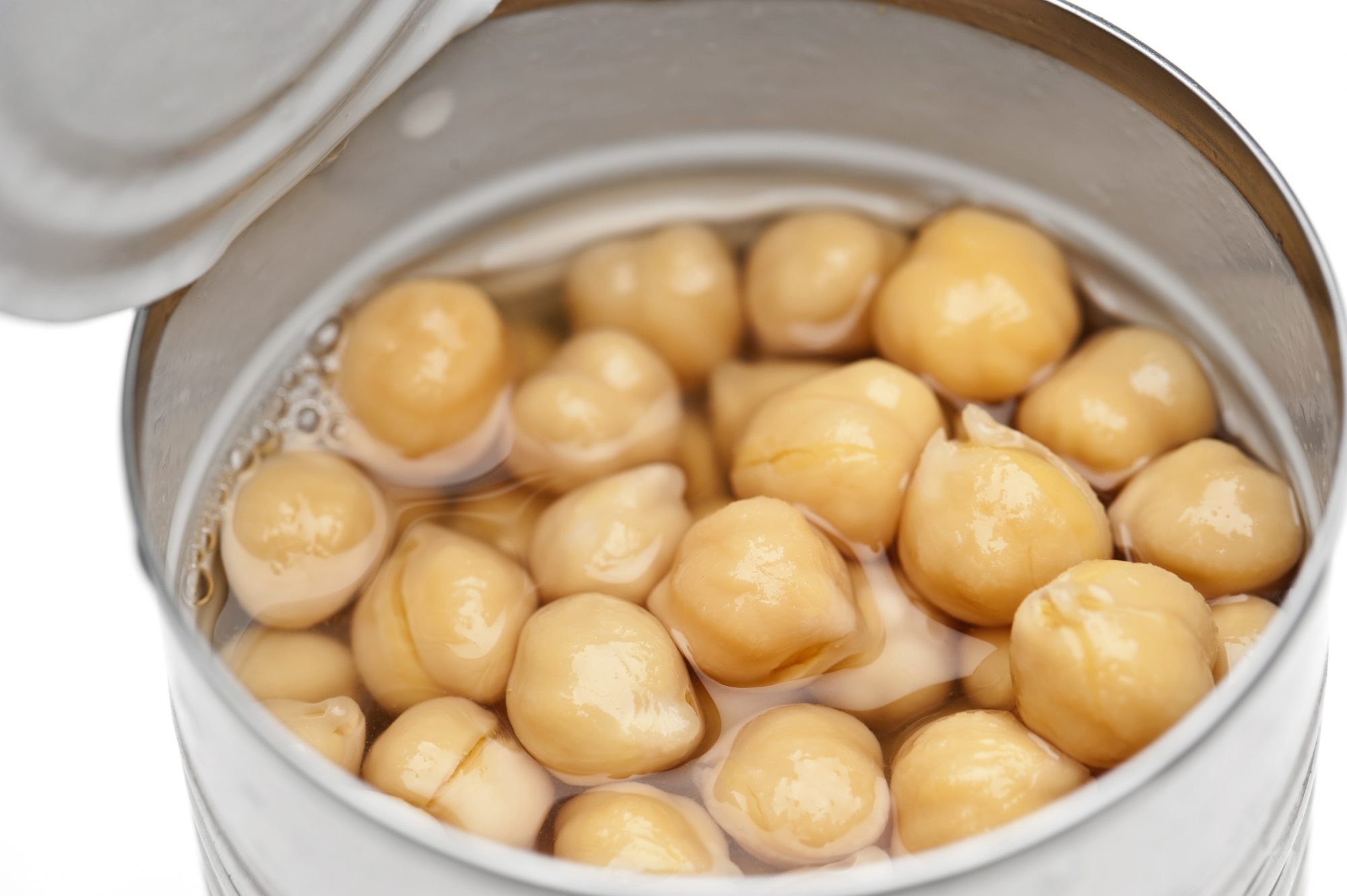 canned chickpeas with liquid