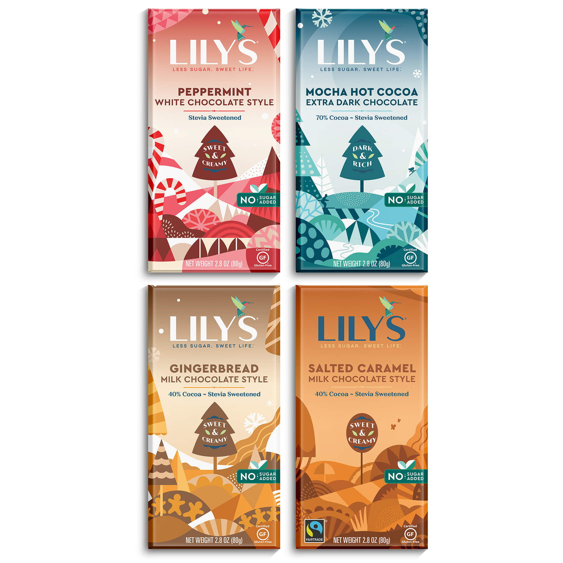 Lily's Holiday Chocolate Bars