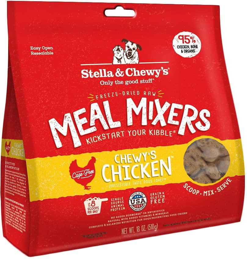 stella & chewy's meal mixers chicken flavor