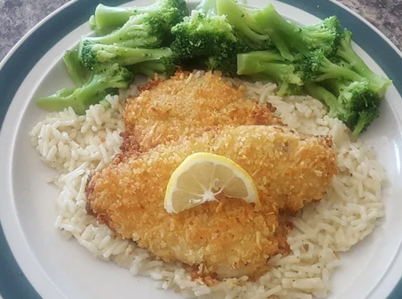 Baked Flounder with Panko
