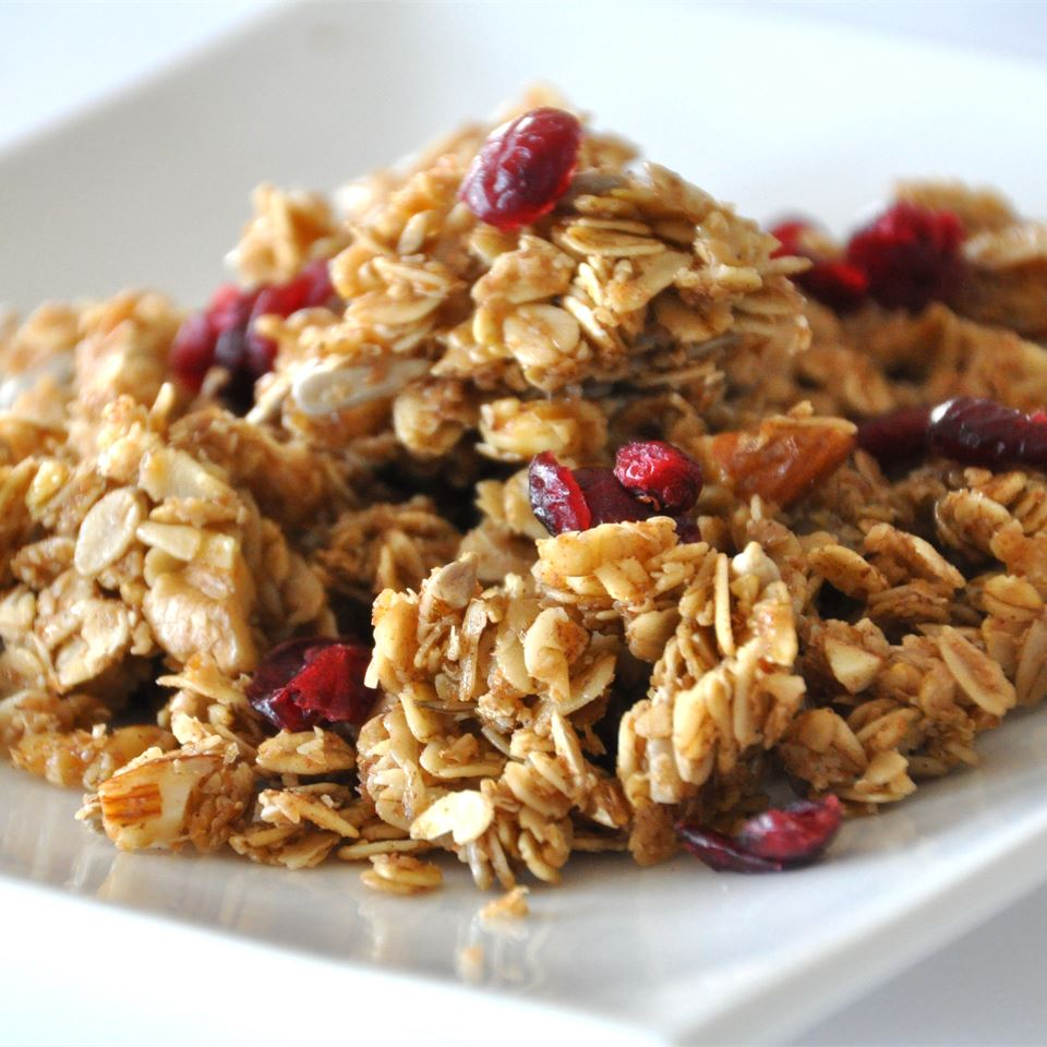 Megan's Granola on a white plate