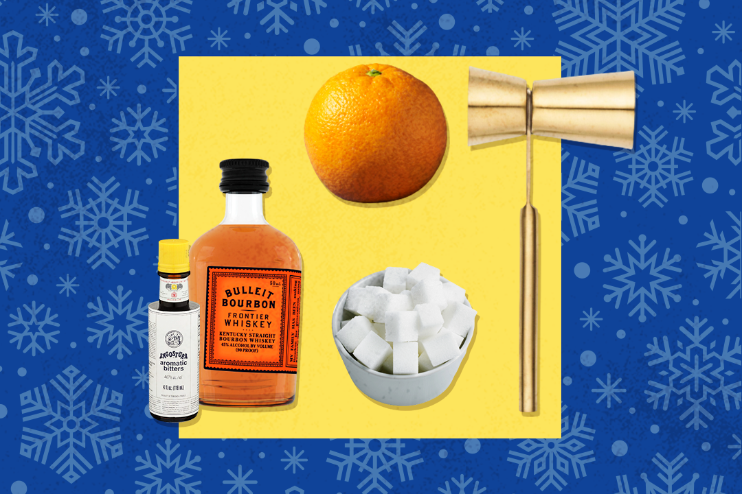 ingredients for a homemade cocktail kit