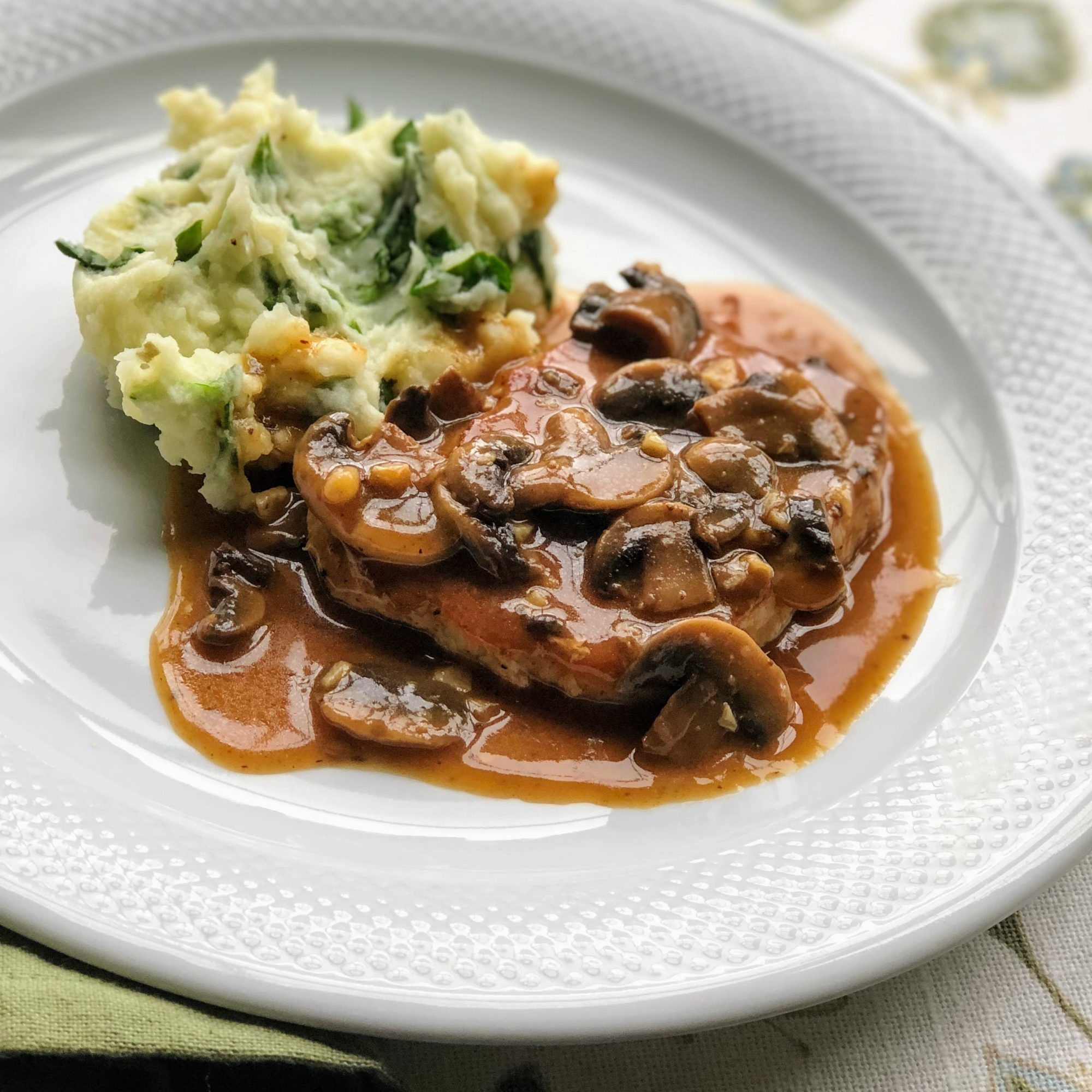 Pork Chops In Garlic Mushroom Sauce Recipe Allrecipes