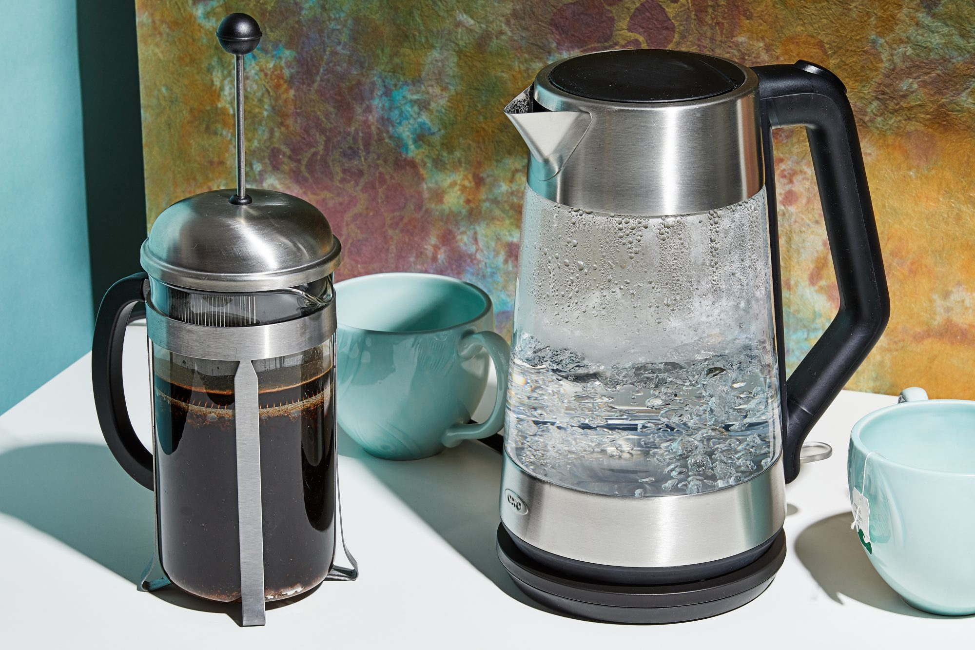 electric kettle with french press