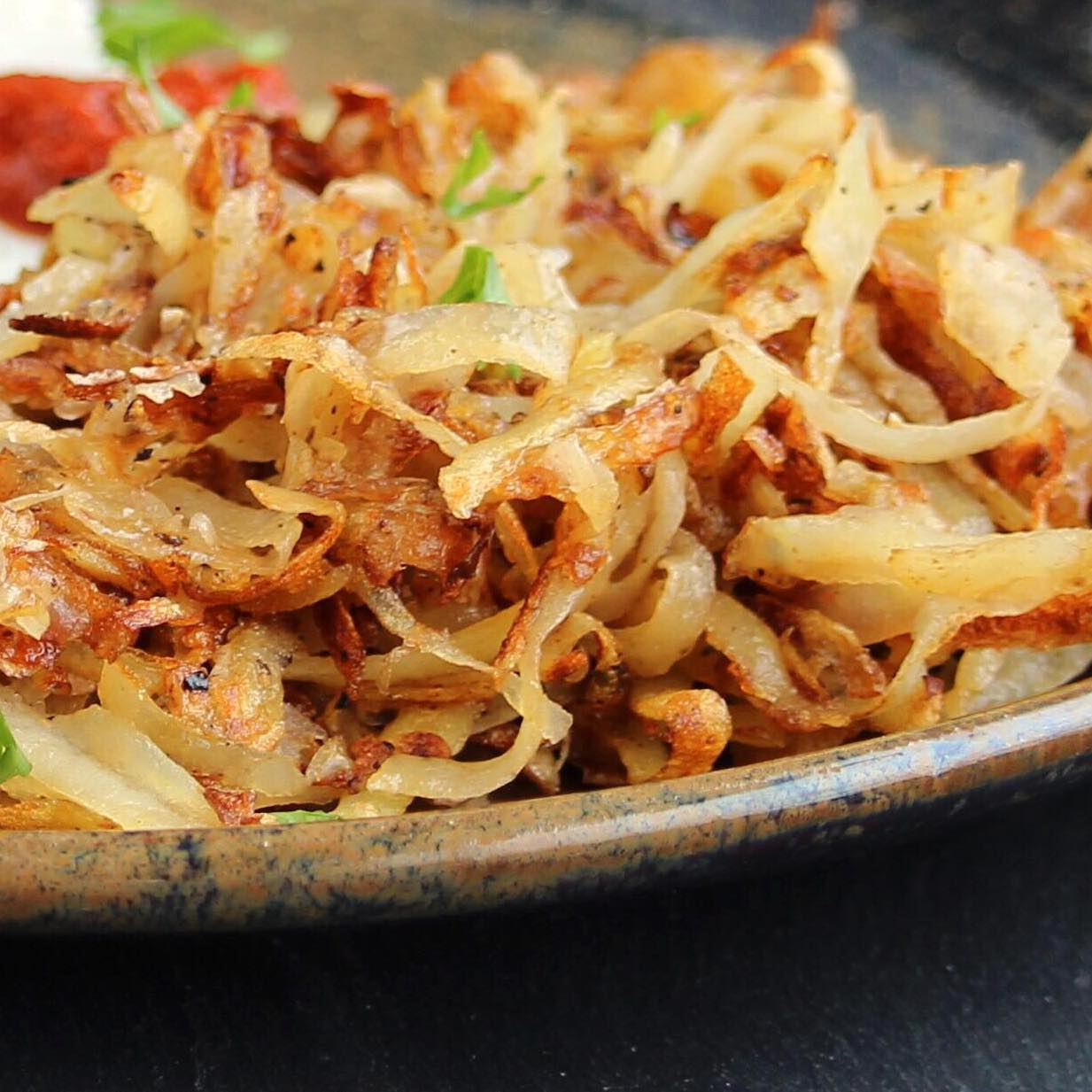 hash browns on a place