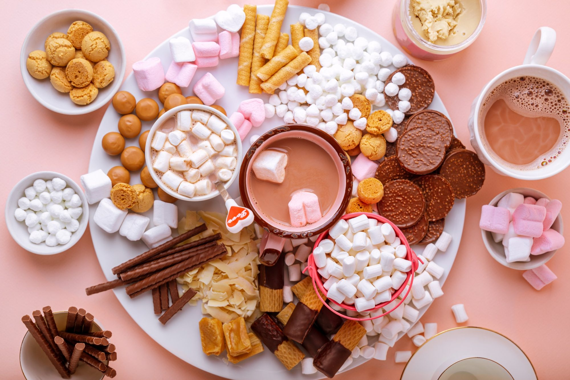 hot chocolate and dessert charcuterie board