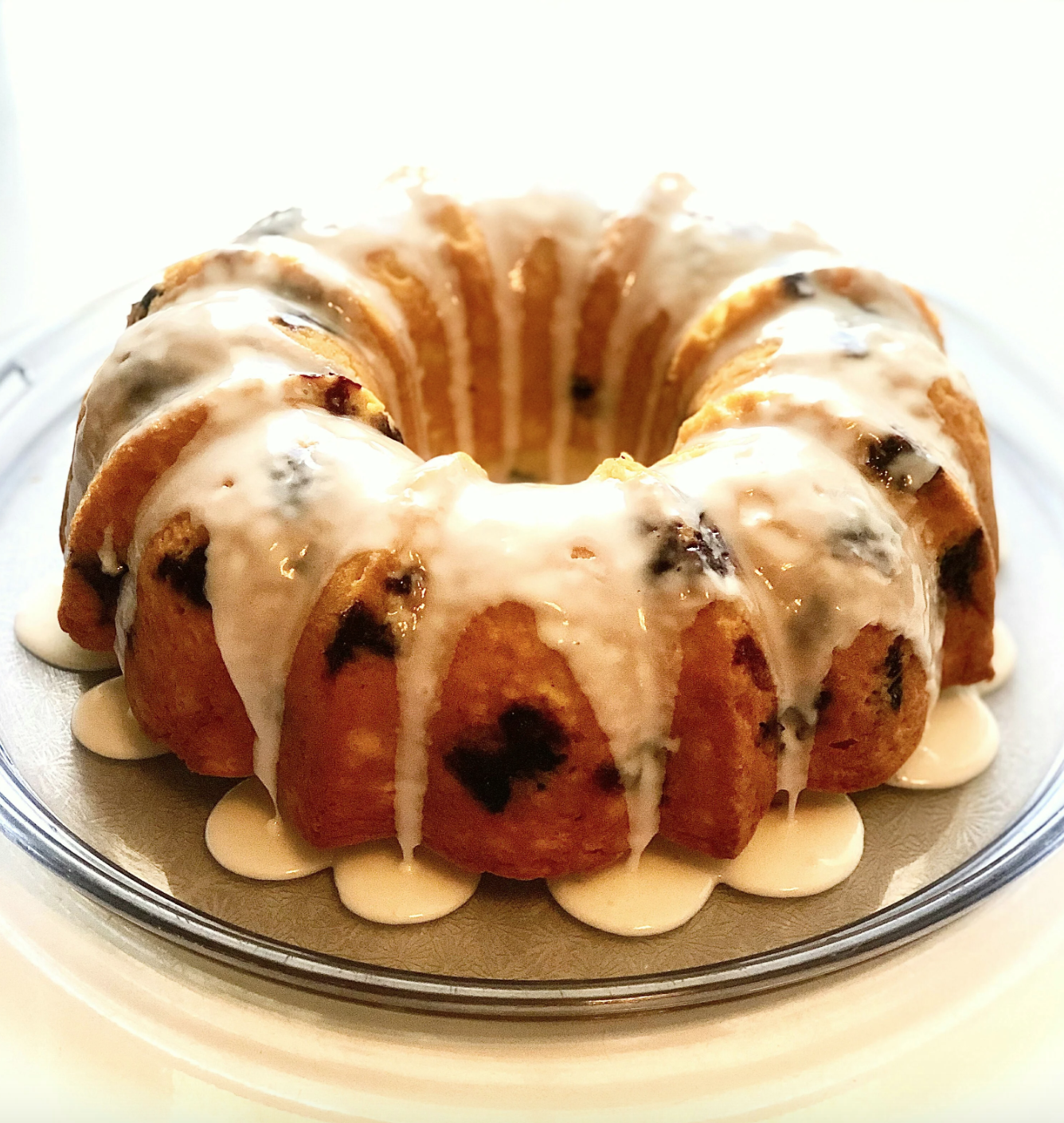 """This fruit-forward Bundt is surprisingly easy, thanks to a package of store-bought lemon cake mix. """"Adding blueberries, lemon, and milk to the mix will result in a moist, light, and fluffy cake,"""" according to recipe creator Yoly."""