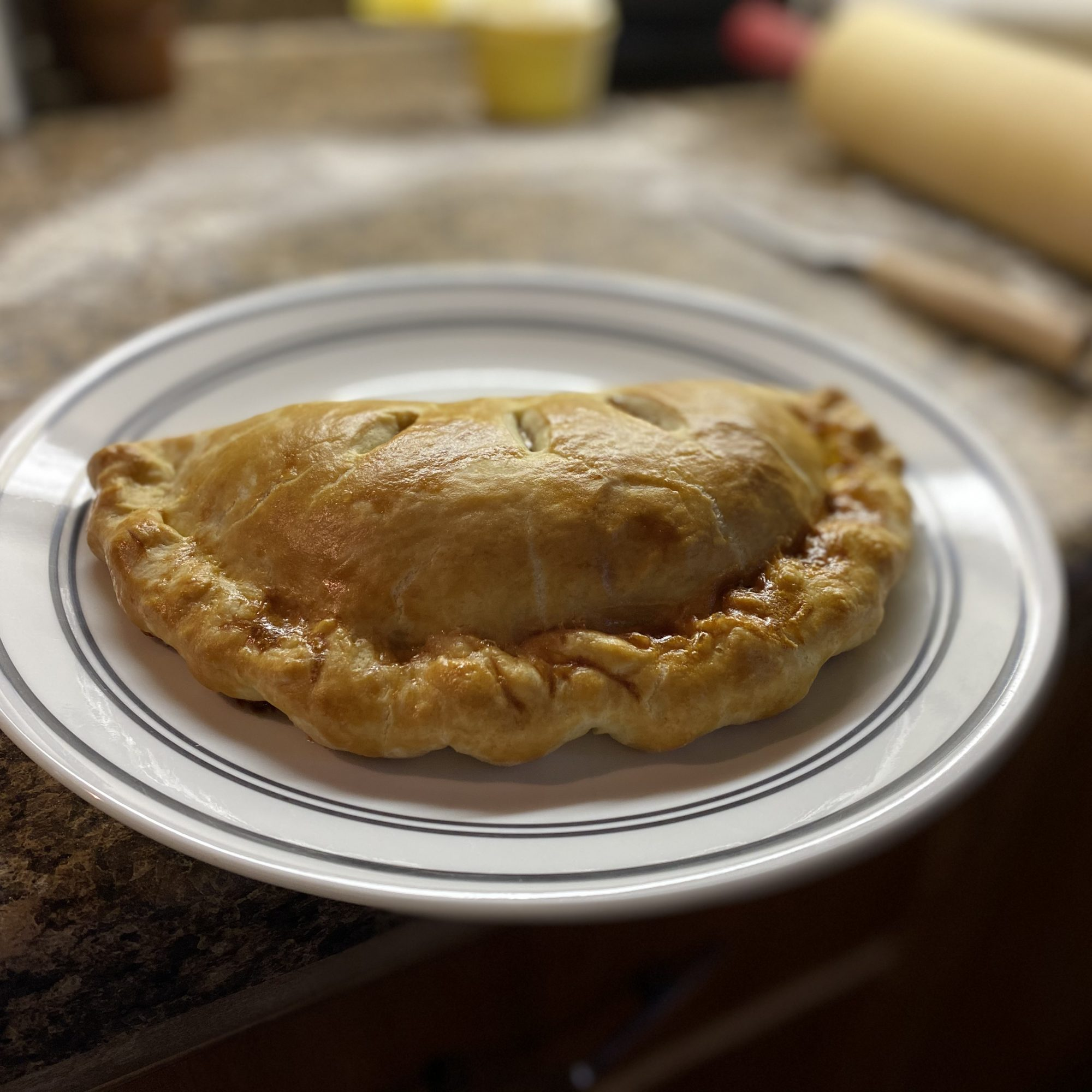 Apple Hand Pies on a white plate