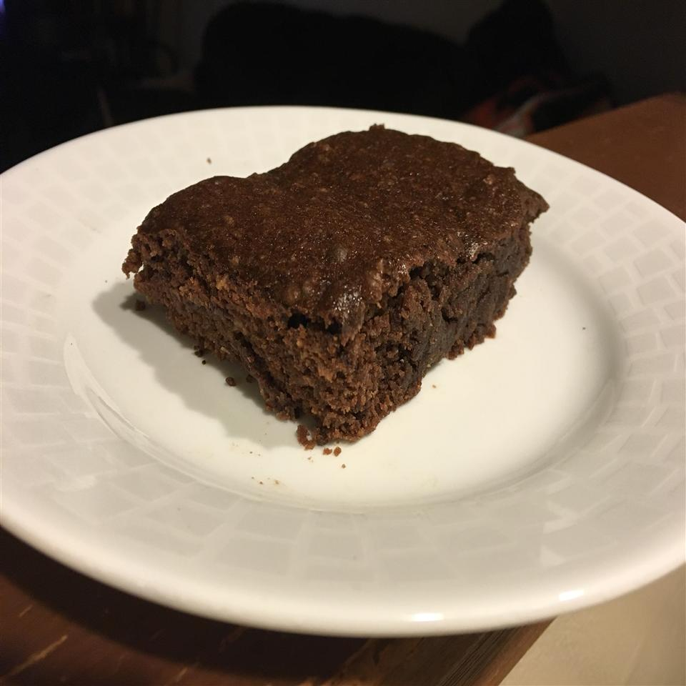 Vegan Coconut Brownies on a white plate