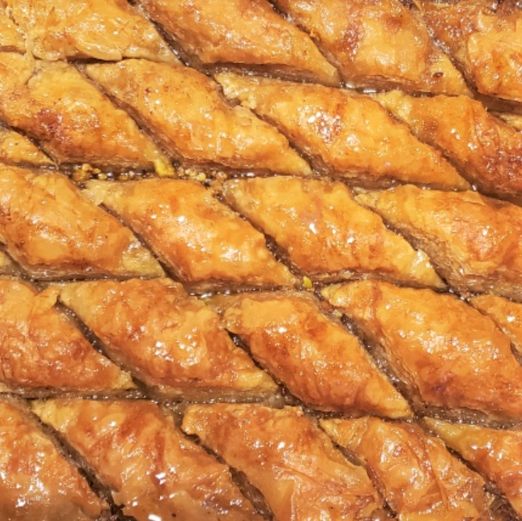 """This double nut baklava can be made a day ahead for a delightful Middle Eastern pastry dessert. Reviewer Jimmy Myers sums up this wonderful recipe in his five-star rating: """"The taste of this baklava made it well worth the work. I have never had better baklava anywhere ... it is a keeper for me!"""""""