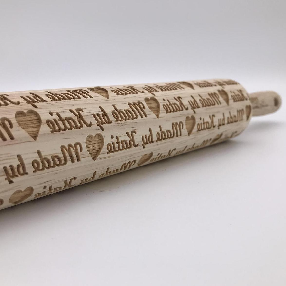 rolling pin with personalized engraving