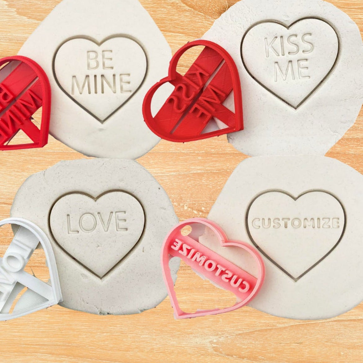 cookie cutters shaped like valentines conversation hearts