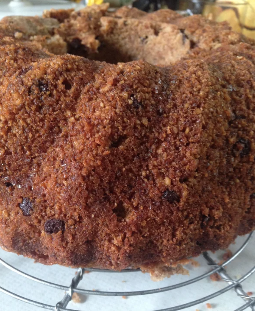This Austrian Bundt cake is flavored with ground hazelnuts and dotted with chocolate chips. It's perfect for making in advance and will stay moist for a few days if stored in an airtight container. Brush the cake with apricot preserves while it is still warm, and serve with sweetened vanilla cream if you like.