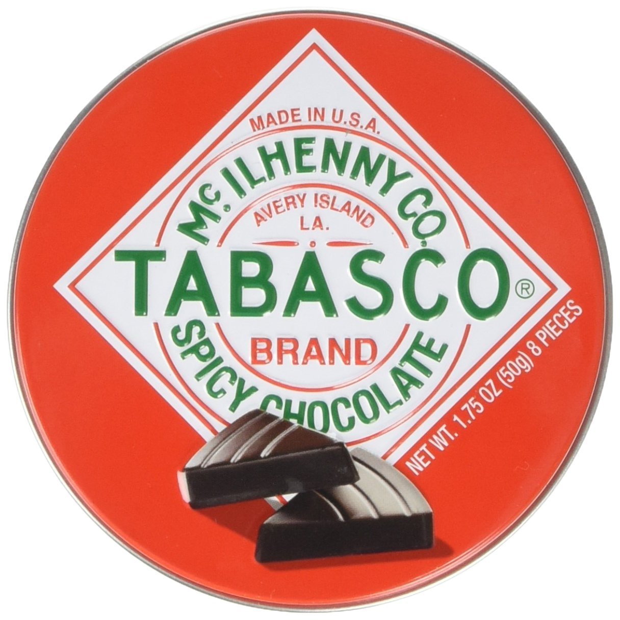A tin of spicy Tabasco chocolate