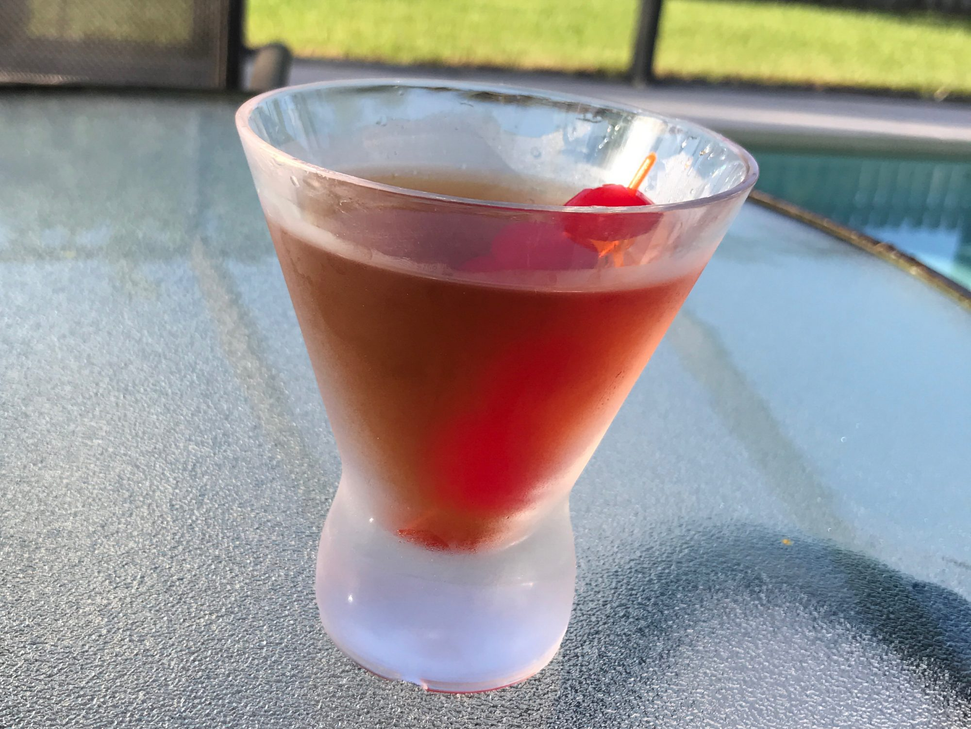 Manhattan Cocktail on a table