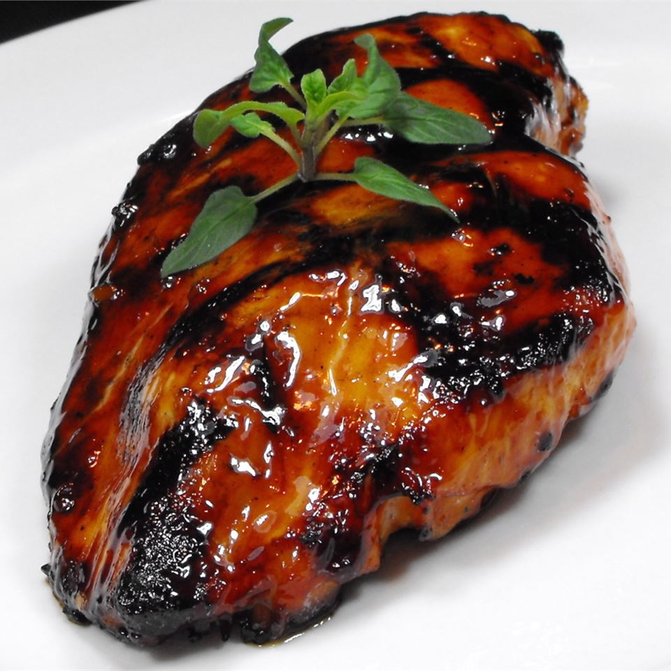 grilled chicken thigh with marinade
