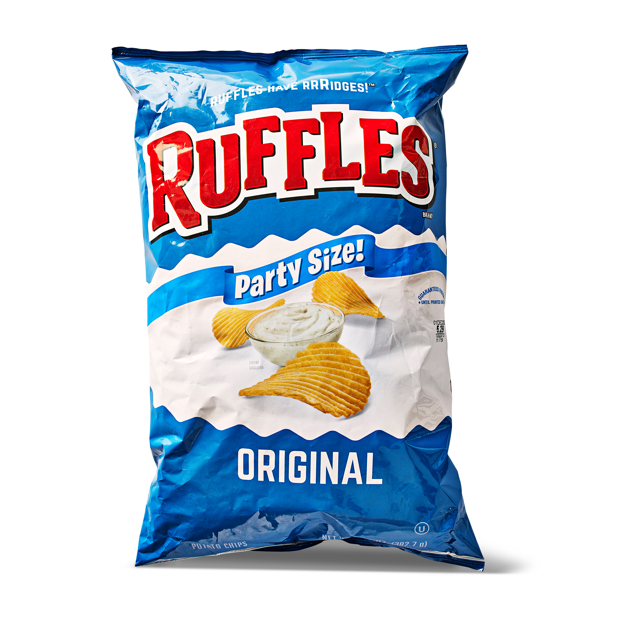 bag of Ruffles original chips