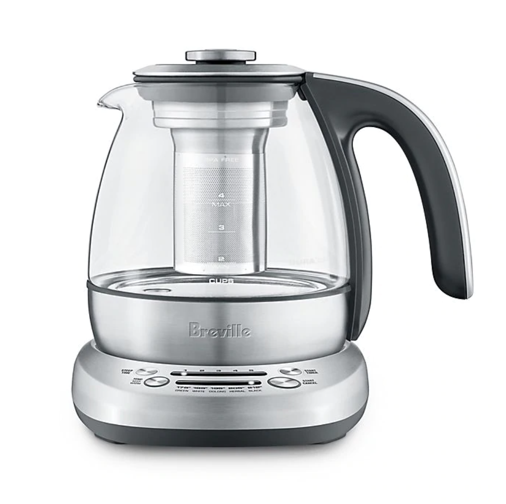 Breville Compact Stainless Steel Smart Tea Infuser on a white background