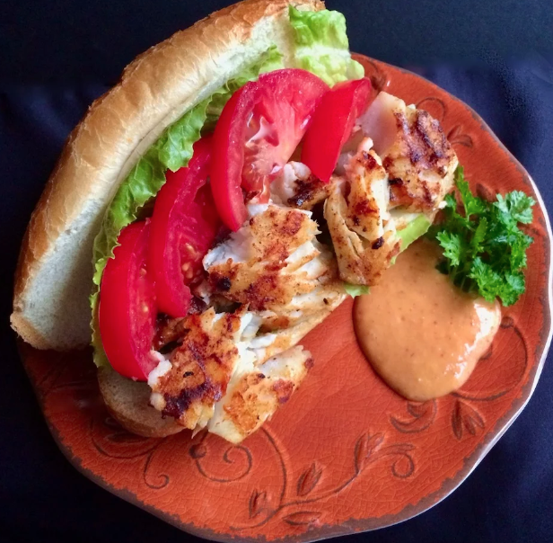 Grilled Fish Sandwiches for Two
