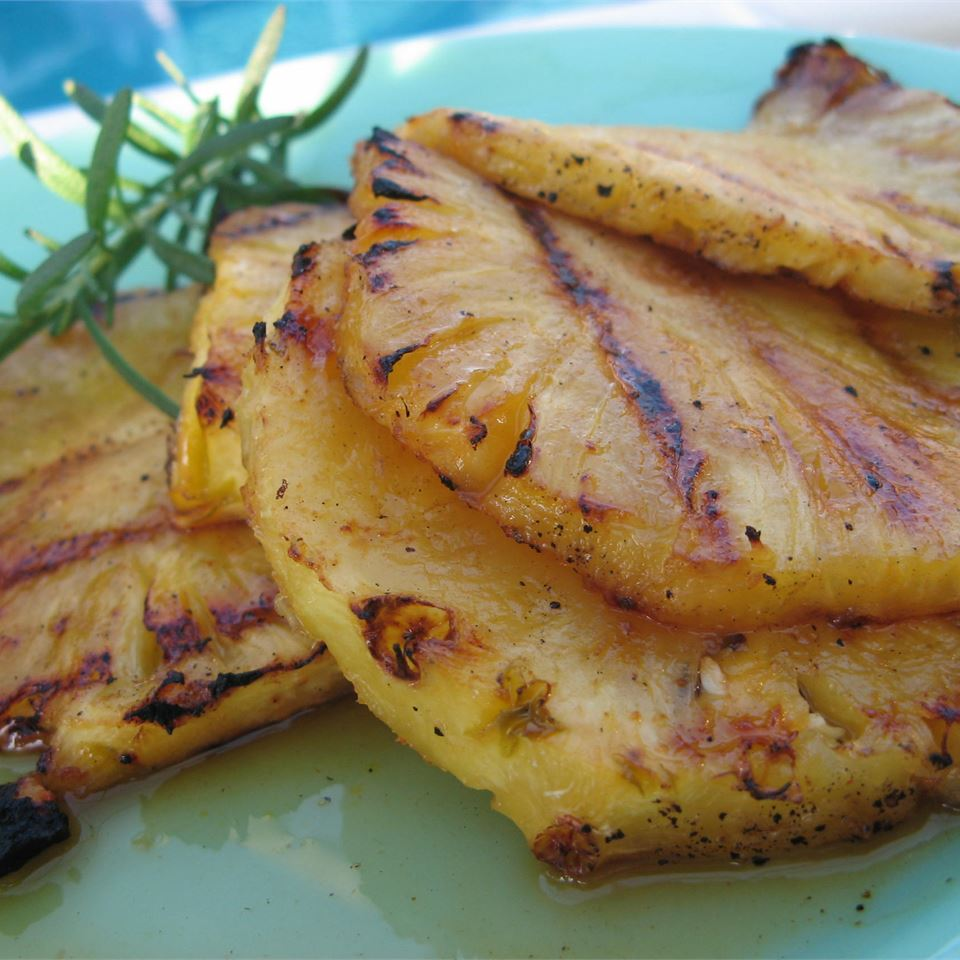 slices grilled pineapple