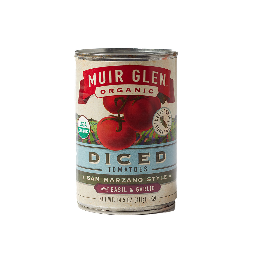 Muir Glen Organic canned tomatoes diced