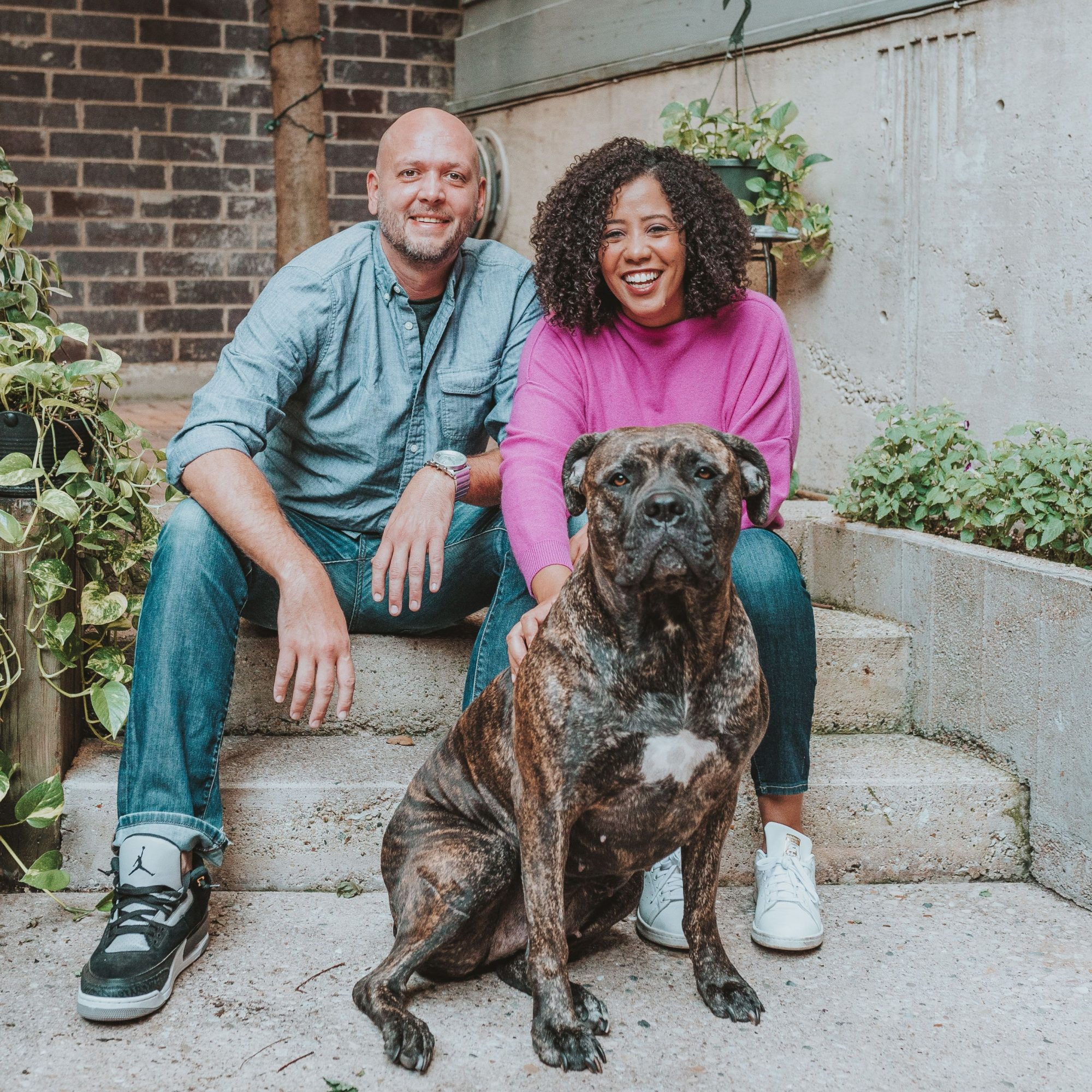 jessica lawson, her partner, and her dog
