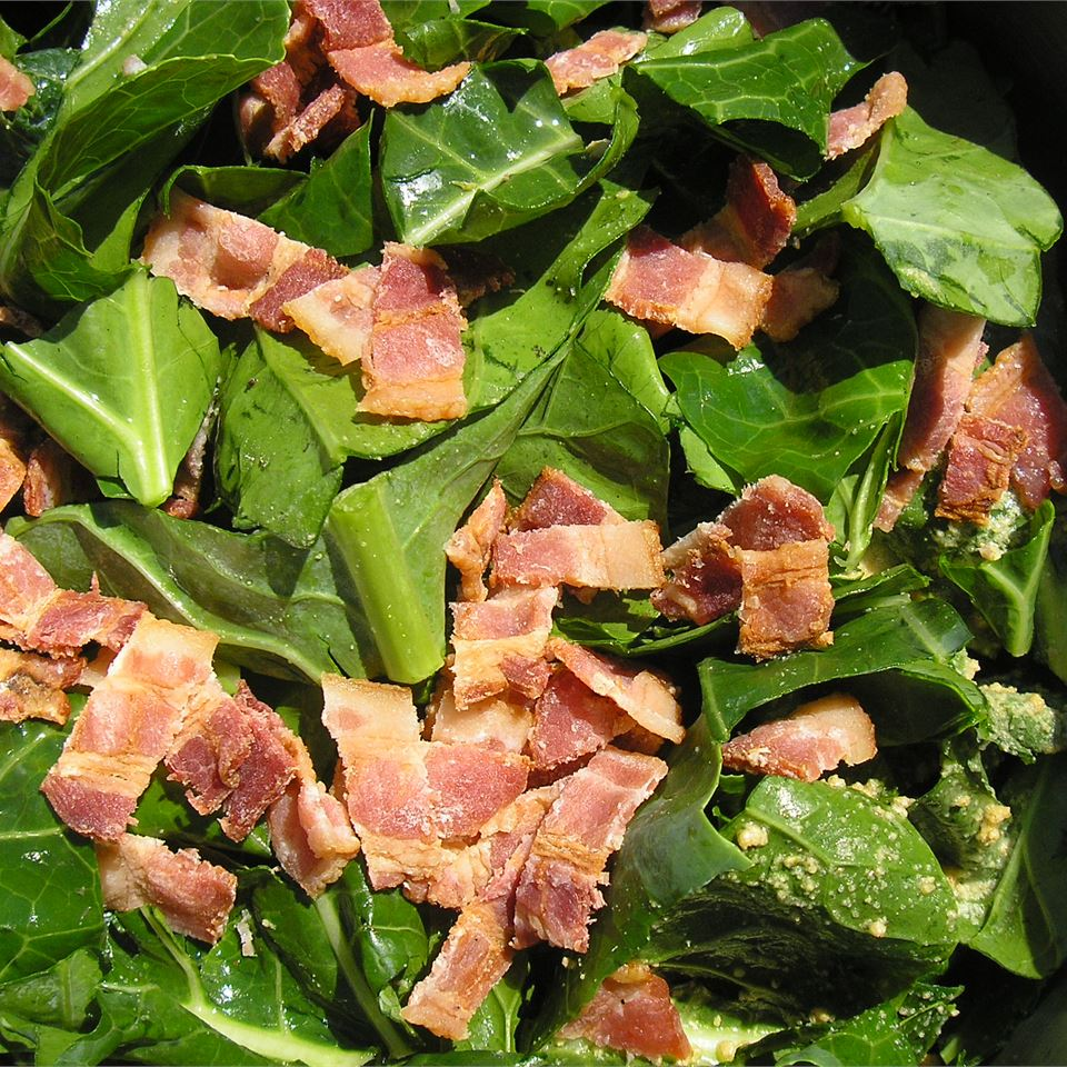 close up of Southern Style Holiday Greens