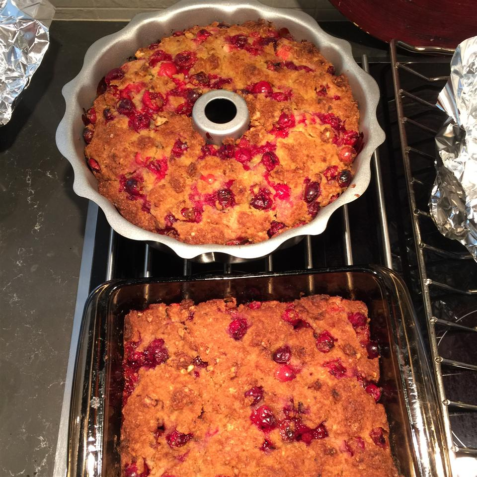 Really Cranberry Orange Yummy Gummy Pudding Cake in metal pans