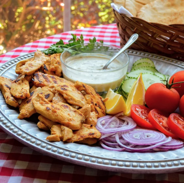 Yogurt-Marinated Chicken Shawarma