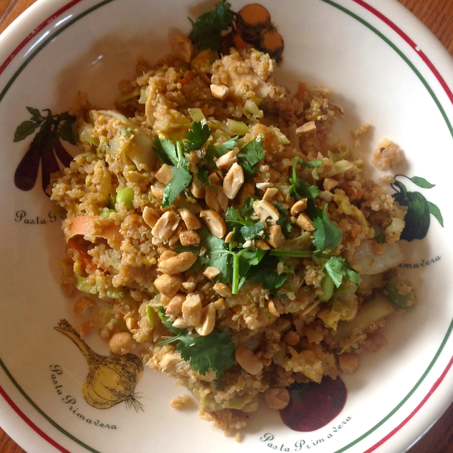 quinoa with pad Thai ingredients
