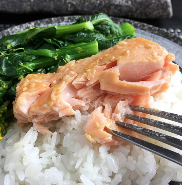 """Broiled miso salmon fillets that are easy to prepare, taste fabulous, and make for a great weeknight meal, says recipe creator A Day In the Kitchen. ""What more could you want?"""