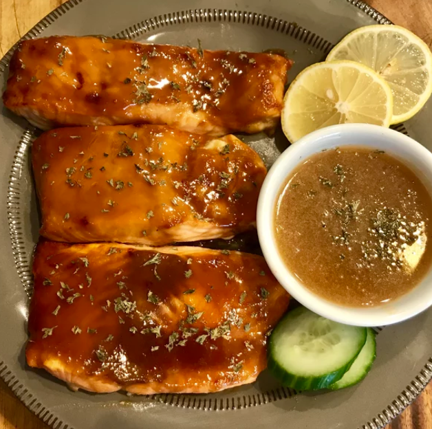 Miso Salmon with Sake Butter