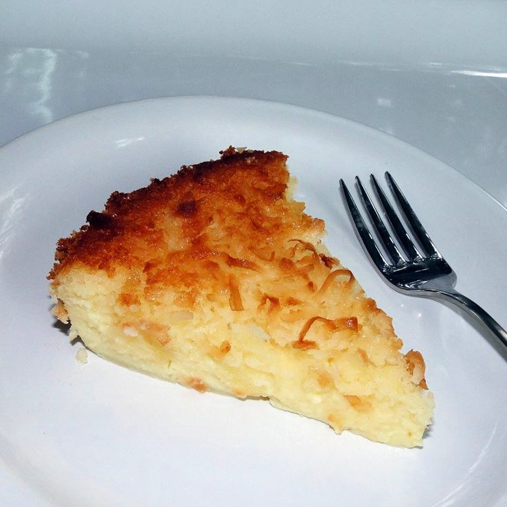 slice of Impossible Coconut Pie on a plate