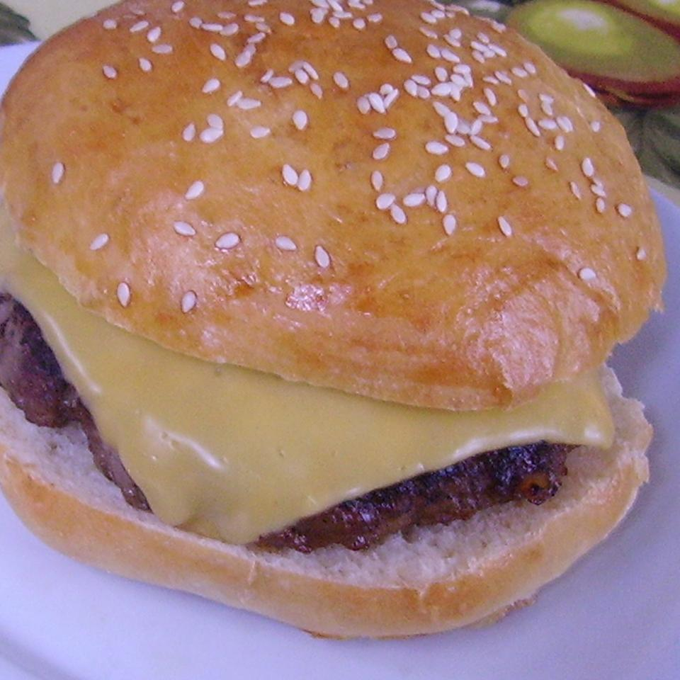 Onion Ranch Burger on a paper plate