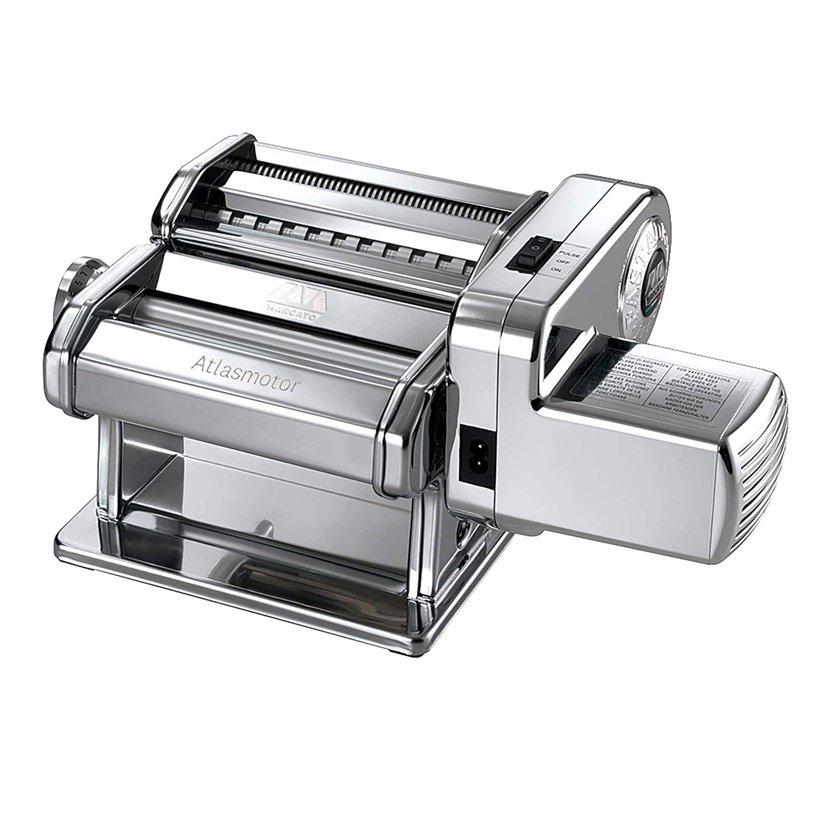 maracato atlas pasta maker with attached motor