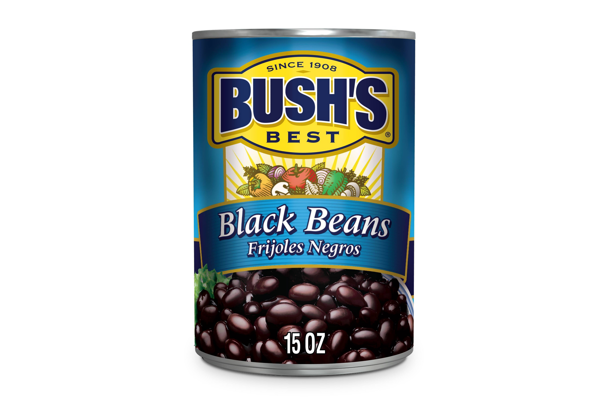 a can of Bush's Black Beans
