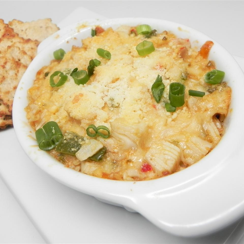 Turn your crab dip up a notch with Pepper Jack cheese and jalapeño peppers. You'll think you're eating the real thing with every bite of this creamy concoction.