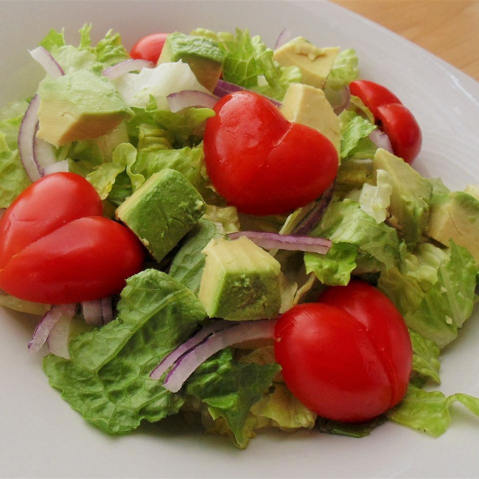 Tequila Lime Salad on a white plate