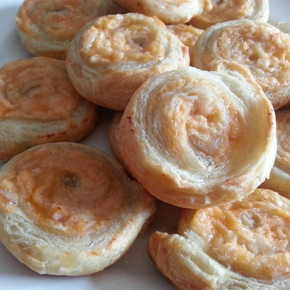 pastry pinwheels with crab filling
