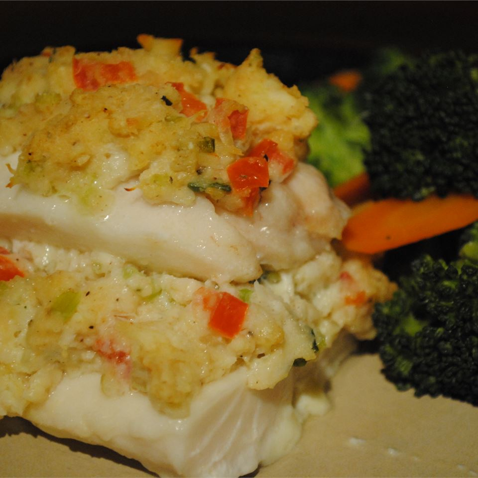 haddock fillet with crab meat stuffing