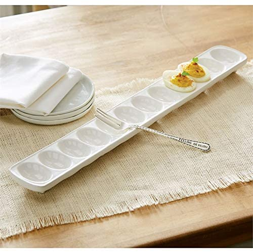 Mud Pie Egg and Oyster Serving Trays (Egg Tray)