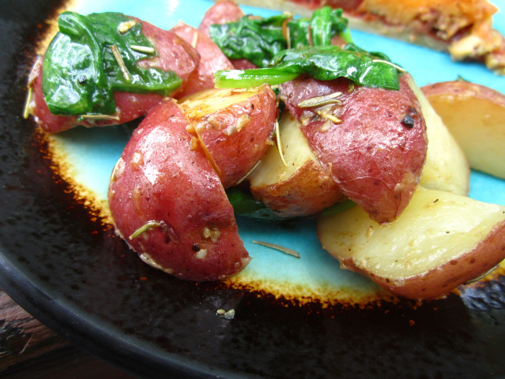 Roasted Potatoes with Greens by pomplemousse