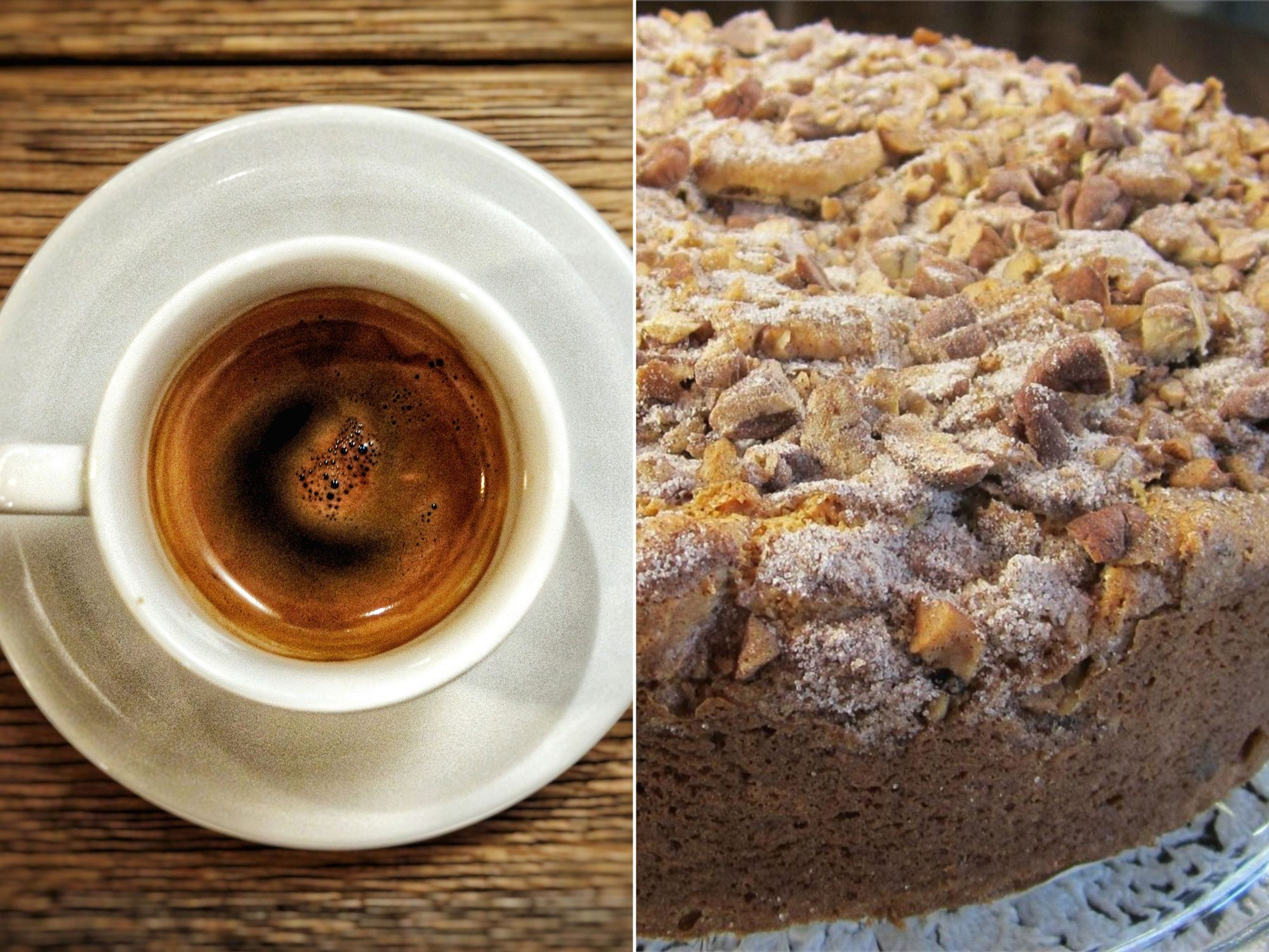 an image pairing espresso and cake