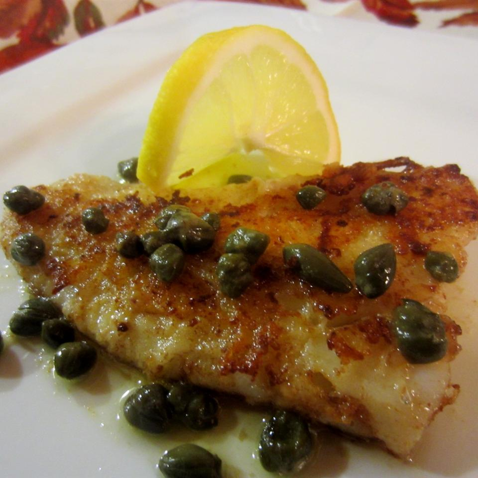 fish filet with capers and lemon