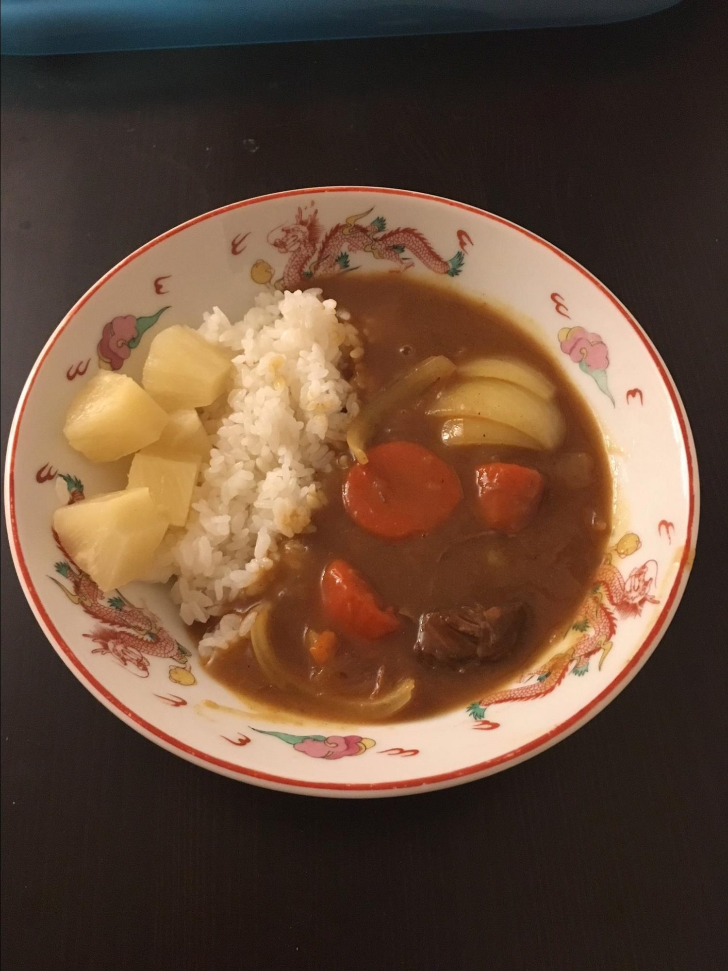 """""""Japanese curry is different from Indian or Thai curries,"""" explains MMSVA. """"It is more of a brown stew and it can be mild or spicy, depending on your tastes. The curry roux, from no heat to very spicy, can be bought at any international grocery store. It can be served over white rice or with udon noodles. This recipe is very flexible."""""""