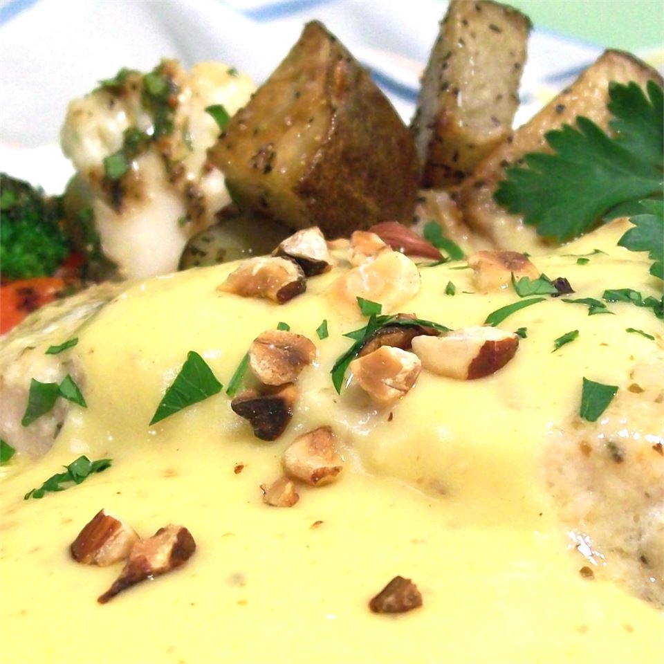 fish with hollandaise sauce