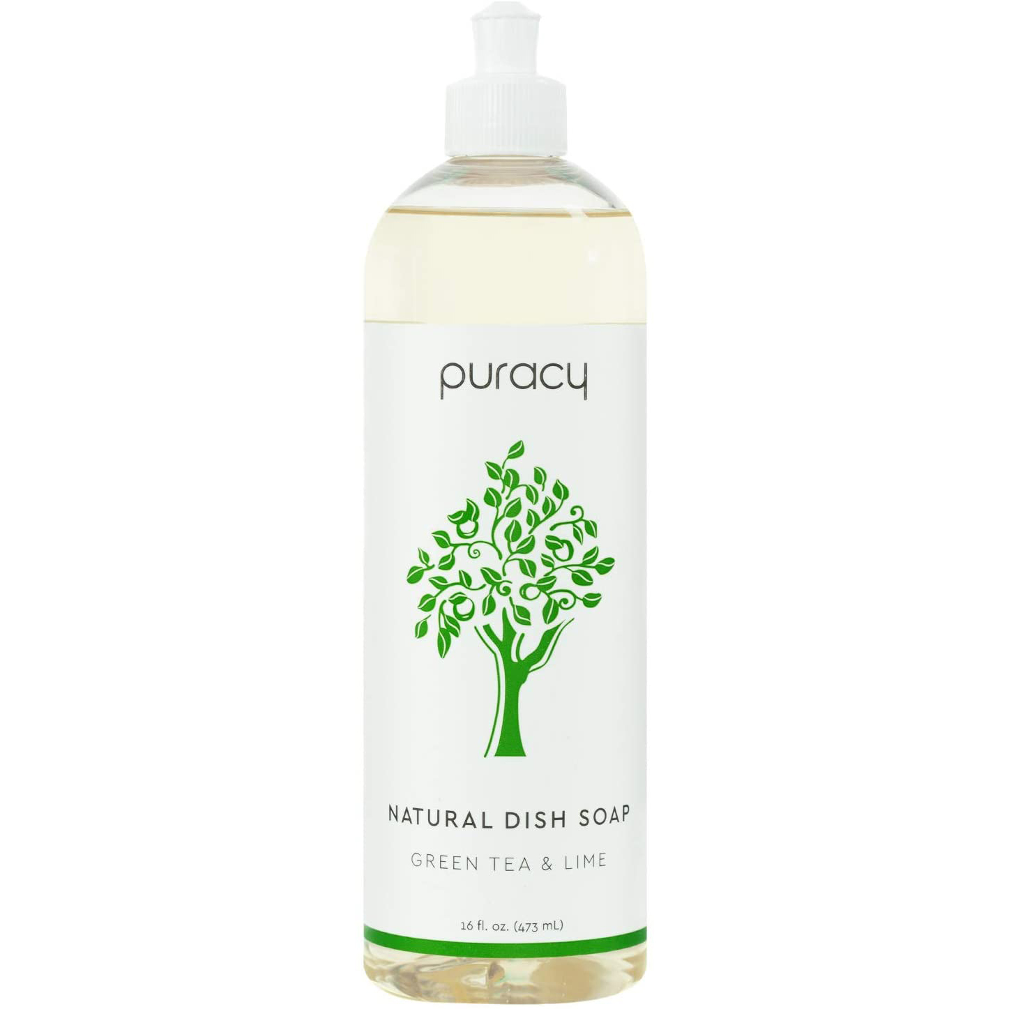 Puracy Natural Dish Soap on a white background