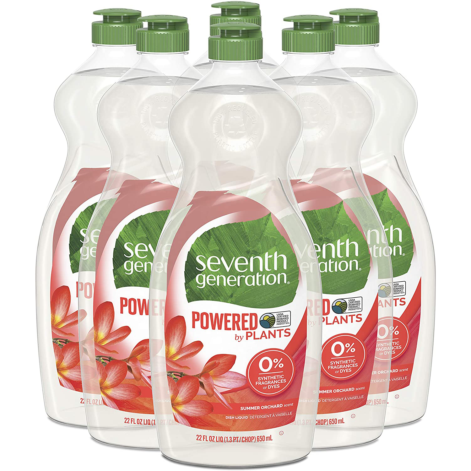 Seventh Generation Dish Liquid Soap on a white background